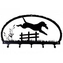 Schlüsselbrett - Labrador Retriever springend